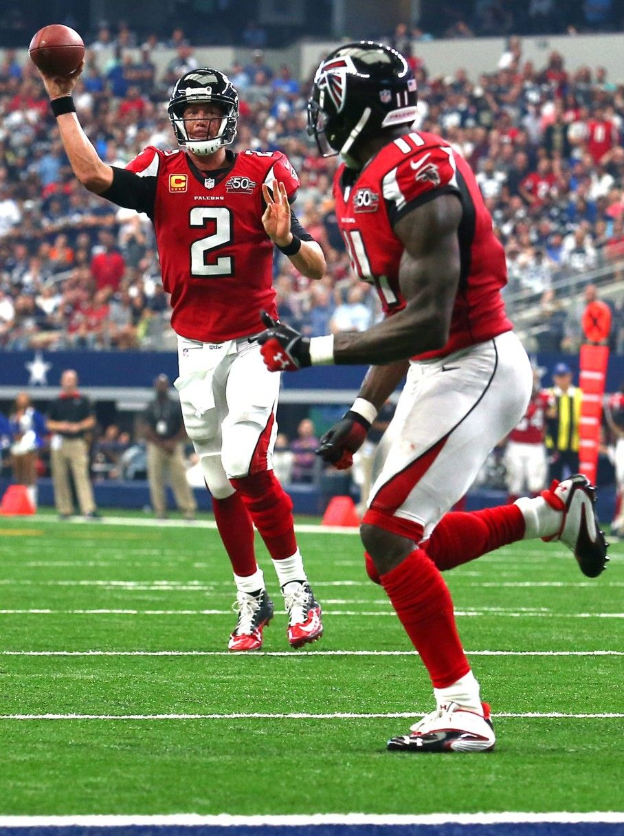 Falcons Matt Ryan Julio Jones At Dallas Last Season 2015 Julio Jones Atlanta Falcons Football Atlanta Falcons