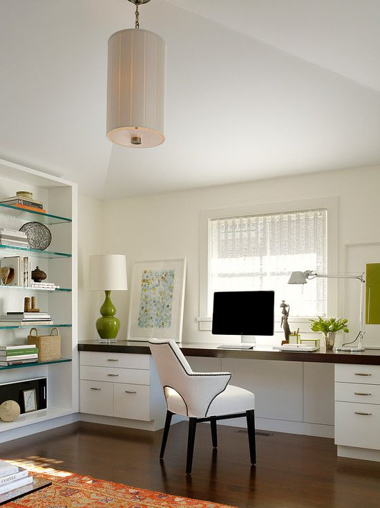 Houzz I Love The Hardwood Floors Long Desk And How Bright It Is In There