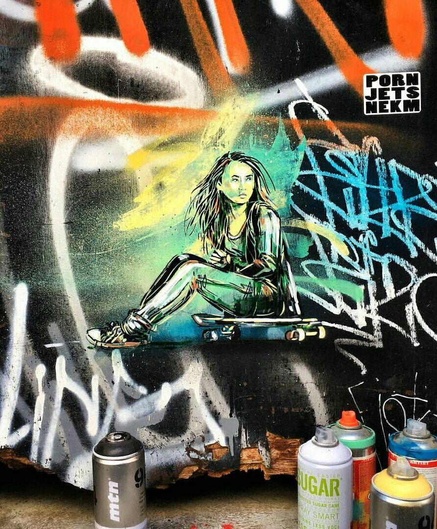 Zimmerwand graffiti alice pasquini  the real genjutsu world  pinterest  alice and