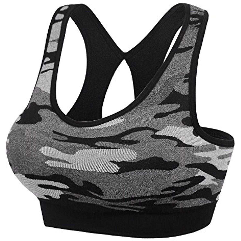 Women Racerback Sports Bras High Impact Workout Gym