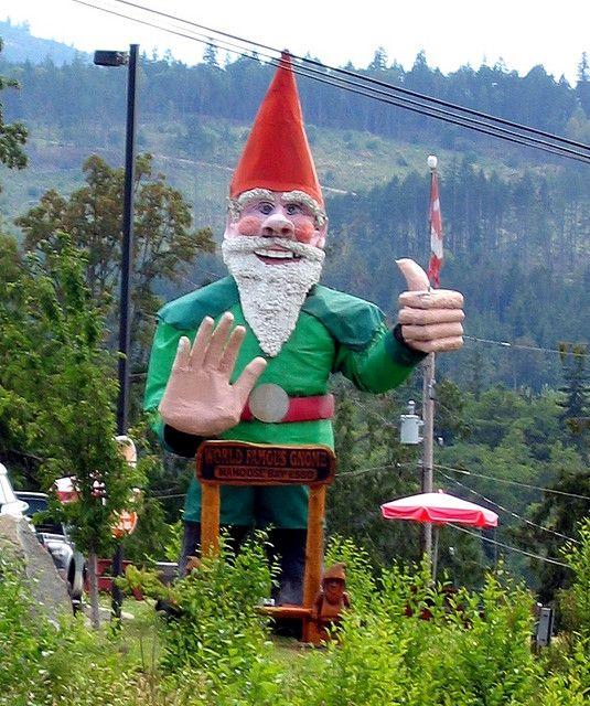 Delightful Giant Gnome Nanoose Bay, BC.