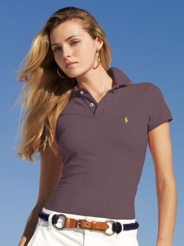 classic style | Polo shirt women, Polo shirt outfits, Polo outfit