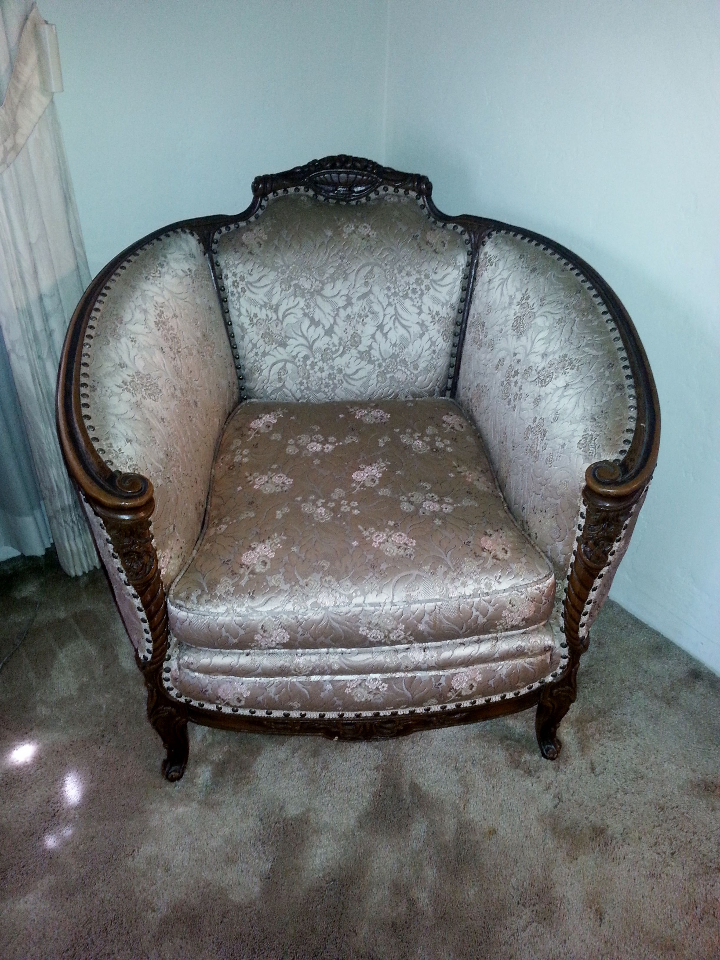 Great Antique 1930 s French chair at Crown City Estate Sale in Los