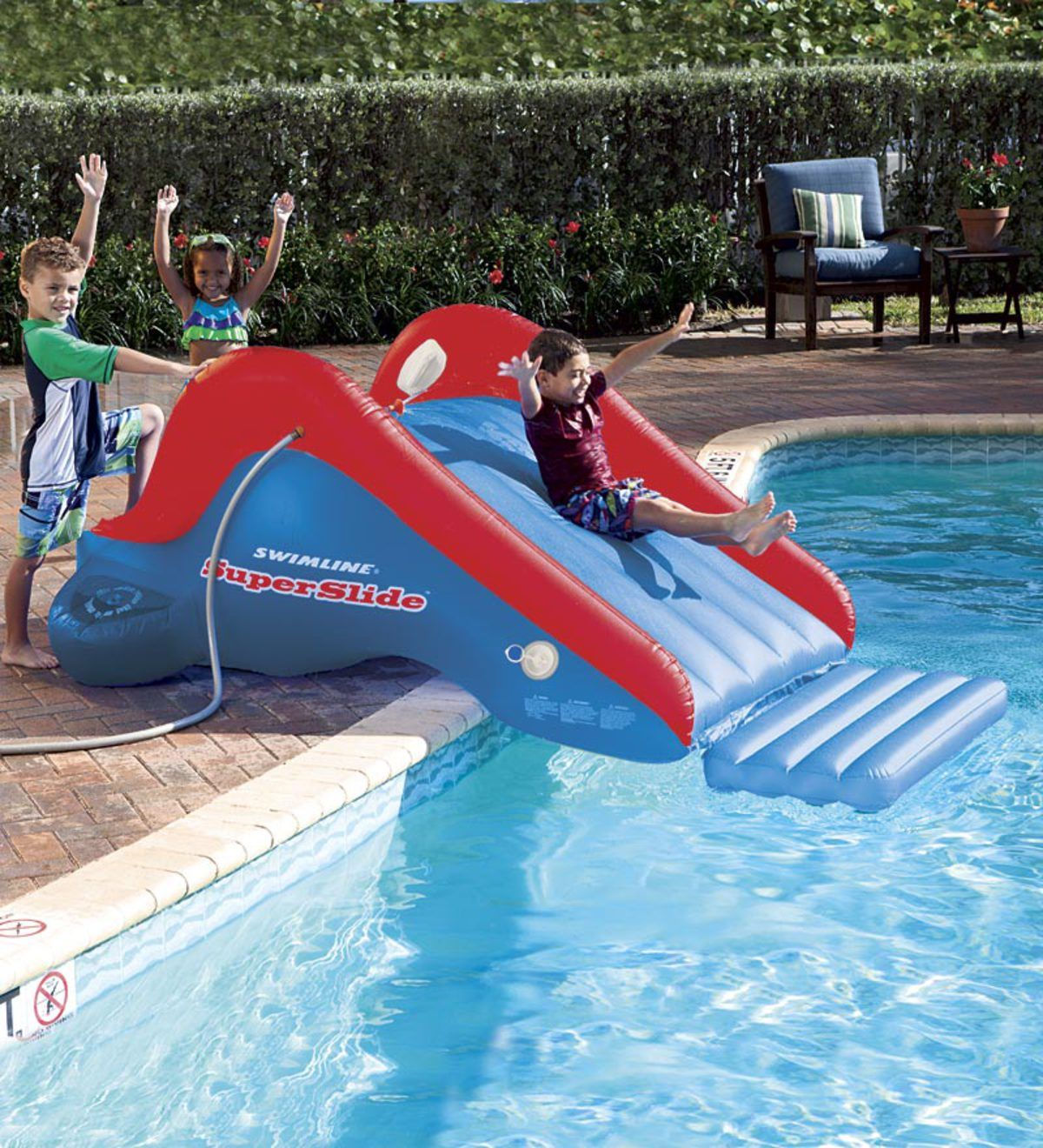 Inflatable Super Backyard Water Slide 12 Ages Hearthsong Pool Floats For Kids Swimming Pool Toys Swimming Pool Games