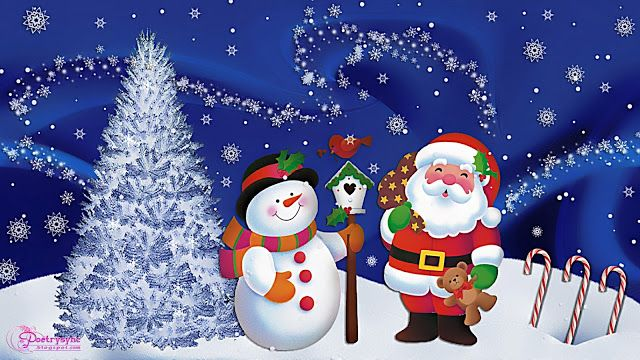 Poetry Christmas Wishes And Greetings Wallpapers With Santa Claus Fondo De Pantalla Navidad Motivos Navidenos Fondo Navideno