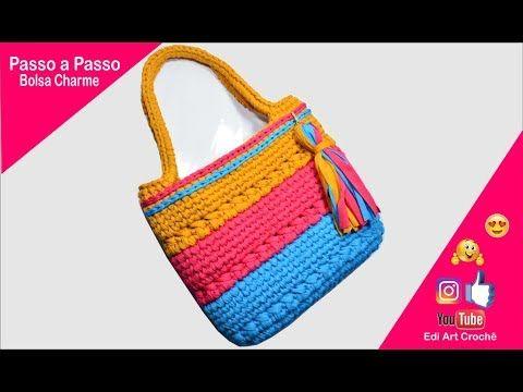 Bolso de ganchillo paso a paso – Bolso de ganchillo – Bricolaje – Hilados de poliéster | Edi Art Crochet