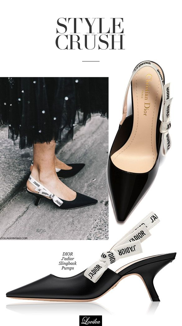 f37fbc02b50 Style Crush: Dior J'Adior Slingback Pumps | Shoes | Kitten heels ...