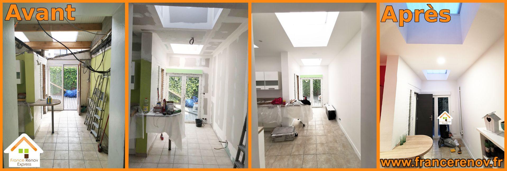 Renovation Complete D Une Extension A Tourcoing Extension Maison Maison Enduit Gratte