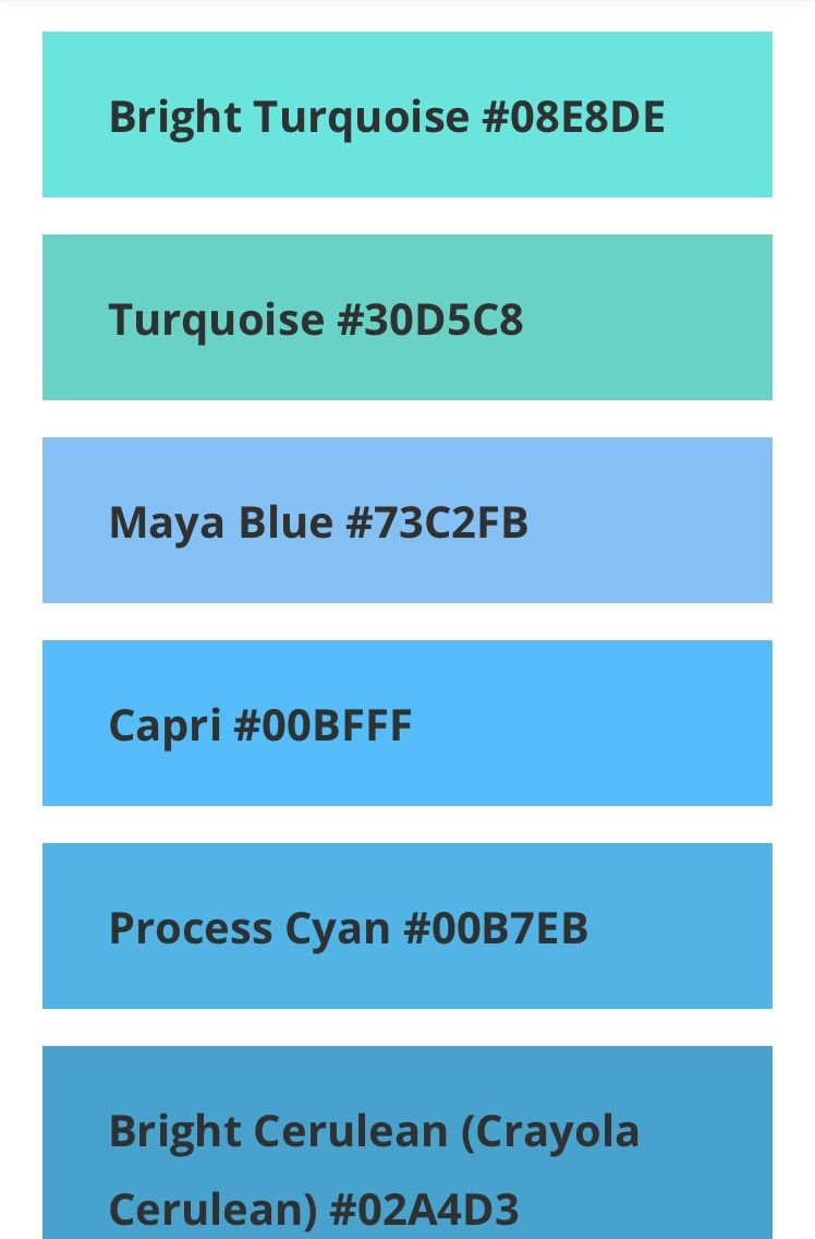 What Color Is Teal And Color Codes In 2020 Aqua Color Palette What Color Is Teal Blue Shades Colors