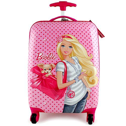 57331388153d Barbie Polycarbonate Hard Shell Spinner Luggage Case - lovable pink ...