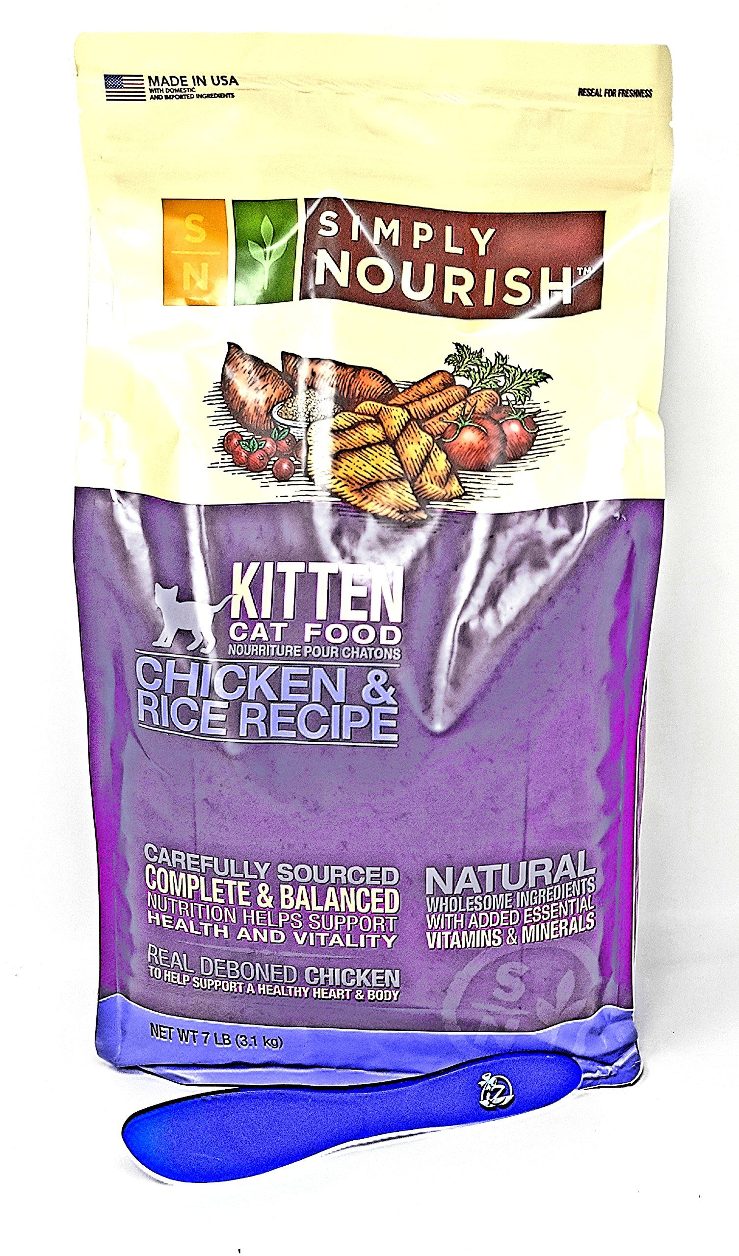 Simply Nourish Kitten Dry Cat Food Natural Chicken And Rice 7lbs With Especiales Cosas Mixing Spatula Want Additional Info Clic Dry Cat Food Food Cat Food
