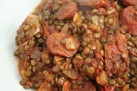Lentilles au chorizo Recette WW - #au #chorizo #Lentilles #Recette #WW