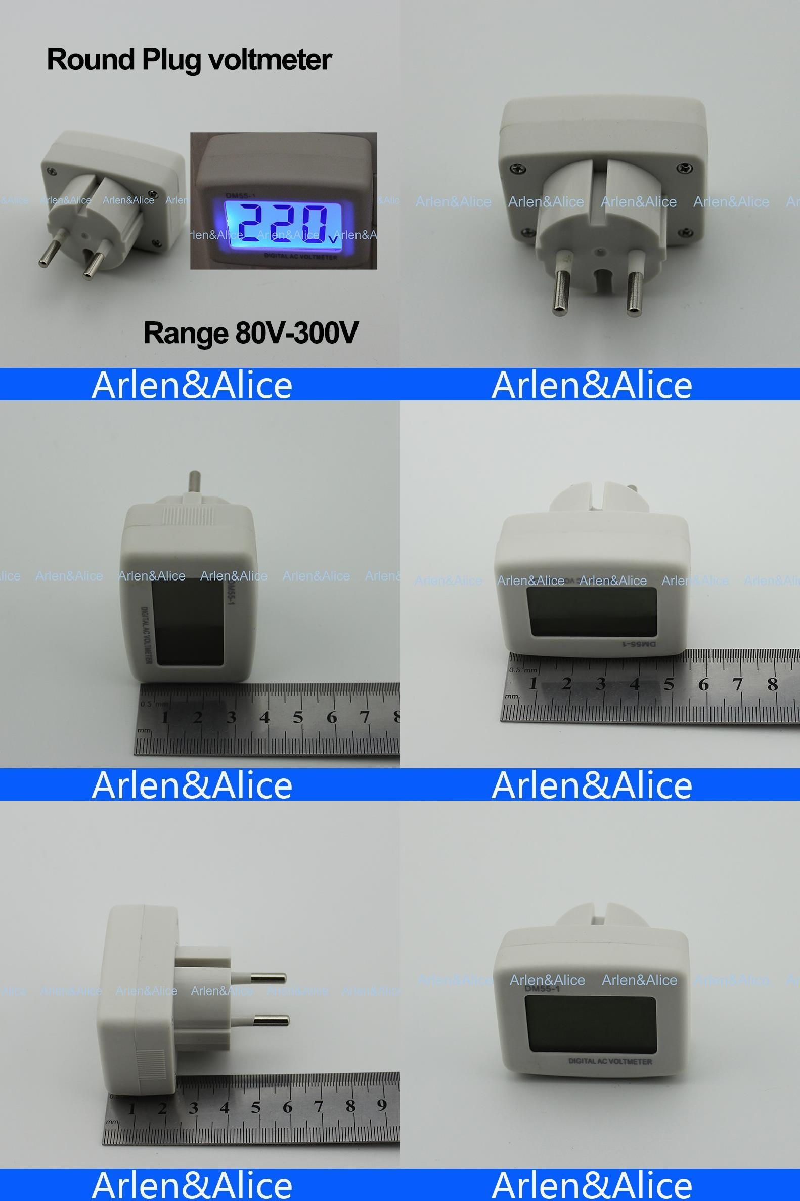 Visit To Buy Lcd Ac Digital Voltage Meter Voltmeter 80 300v Switch Power Monitor Euro