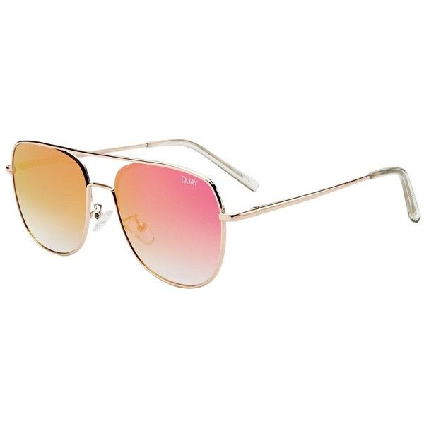 f6404be9875 Quay Australia Running Riot Mirror Sunglasses (£35) ❤ liked on Polyvore  featuring accessories