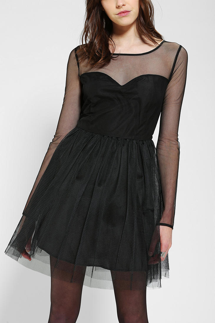 Urban Outfitters Black Pins And Needles Meshtop Tulle Dress Tulle Dress Dresses Urban Dresses [ 1095 x 730 Pixel ]