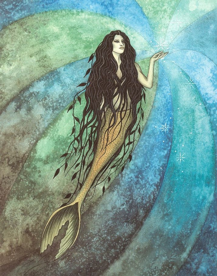 Jessica Galbreth Signed Postcard Turquoise Seas Mermaid | Pinterest ...