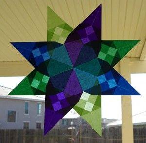 Waldorf Window Stars Csillag Ablakra Weihnachtsdeko