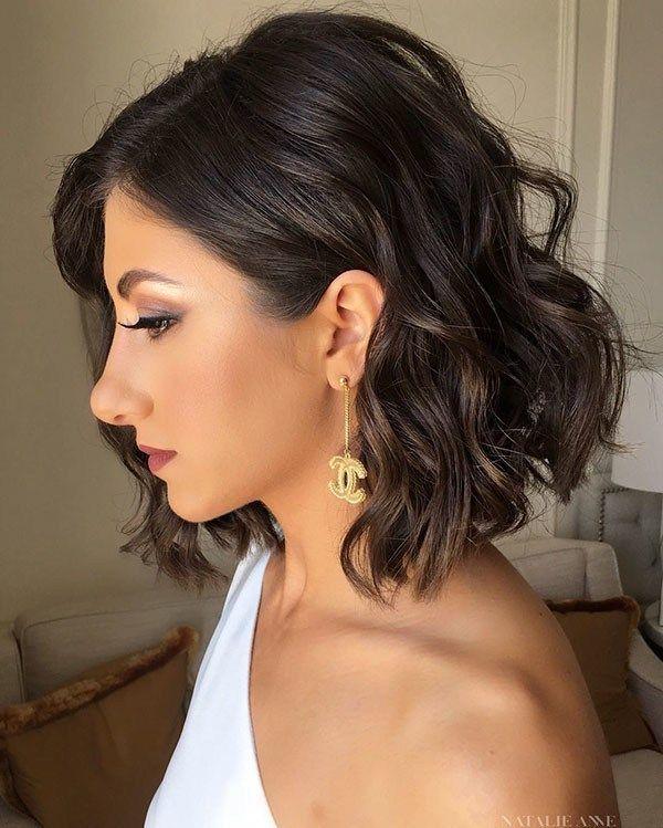 Soft Curls Wedding Hairstyles For Short Hair 2019 Hair Styles Thick Hair Styles Short Wedding Hair