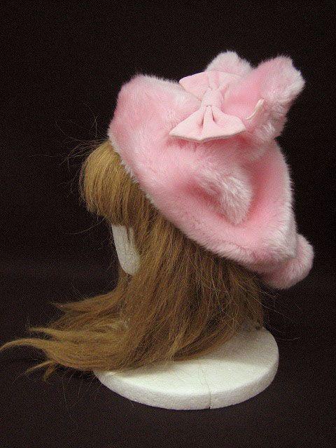db114d5bd42b6 Lolita Fashion    Angelic Pretty   Fancy Bunny Beret hat    faux fur pink  bow ears tail pompom rabbit sweet lolita