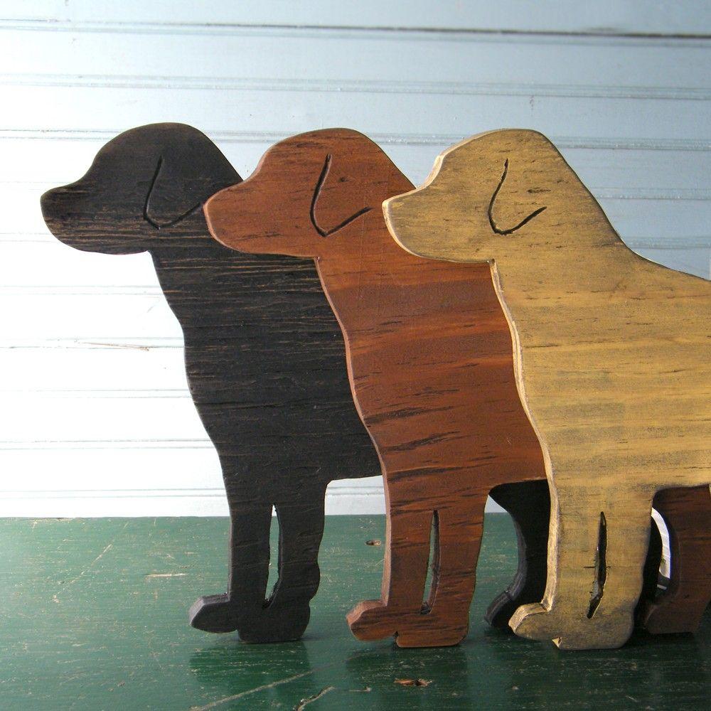 Lab Dog Sign Wood Labrador Retriever Black Yellow Chocolate