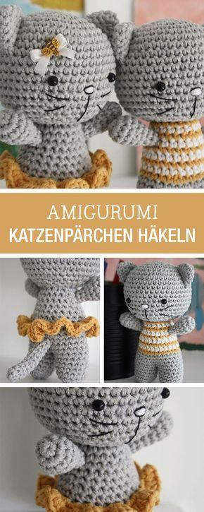 Diy Anleitung Verliebtes Katzenpärchen Als Amigurumi Figuren Selbst