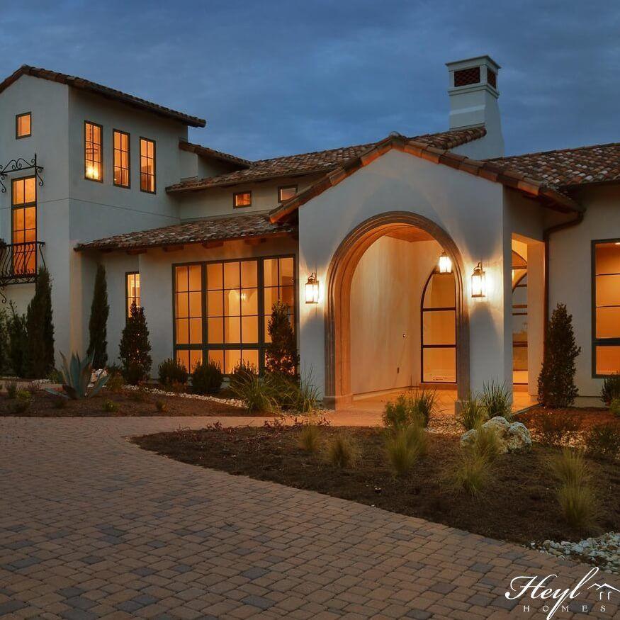 Award Winning Mediterranean House Plans: Spanish Hacienda Custom Designed By Heyl Architects And
