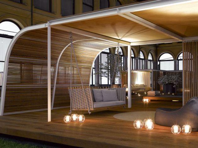 The Cabanne Shelter By Bestetti Associati | Contemporist | Modern ... Cabanne Gartenpavillon Paola Lenti Bestetti Associati