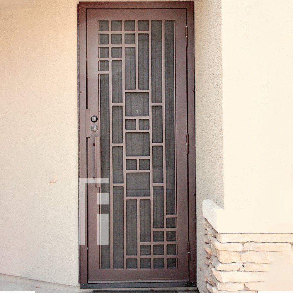 Copper Triple Plate Iron Security Door First Impression Ironworks Grill Door Design Door Design Modern Security Door Design