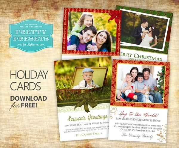 4 Free Christmas Cards Christmas Card Templates Free Christmas Photo Card Template Holiday Card Template