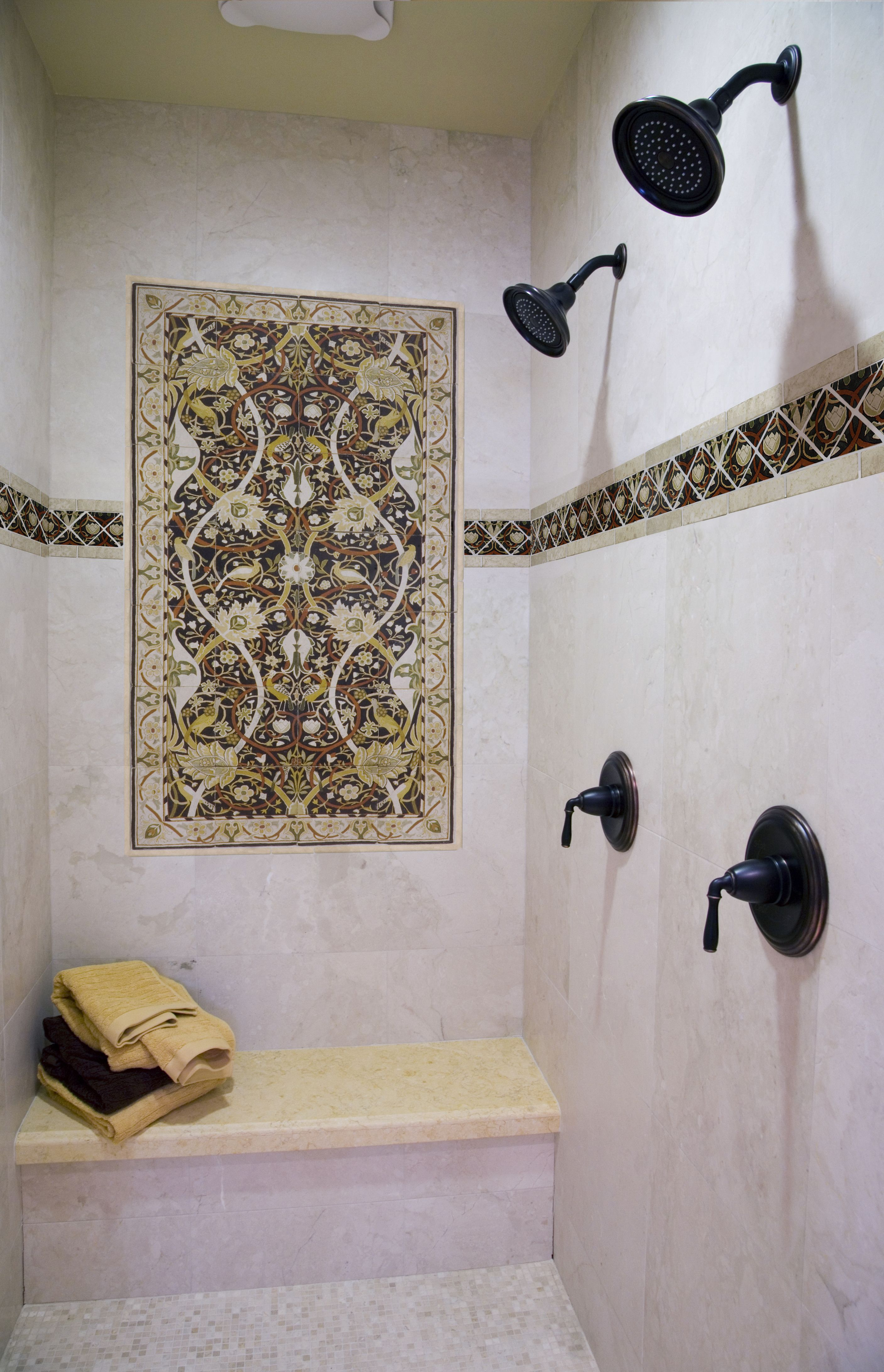 A custom mural in your shower? With Stone Impressions anything is ...