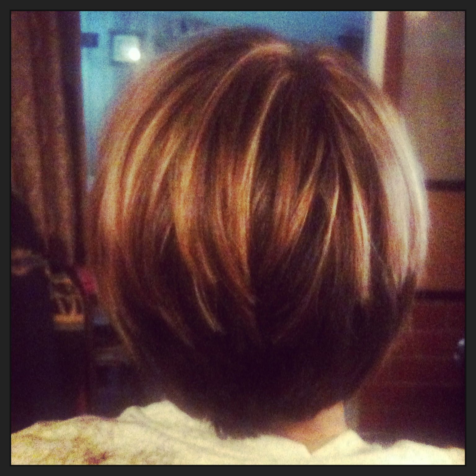 Hair Stack Inverted Bob Brown With Blonde And Red