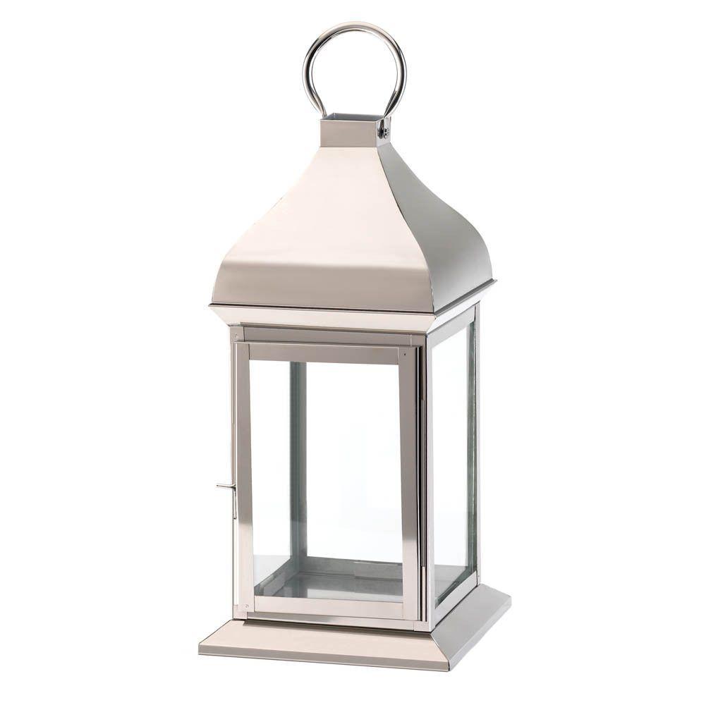 Large Silver Glint Lantern Us Large Lanterns Candle Lanterns