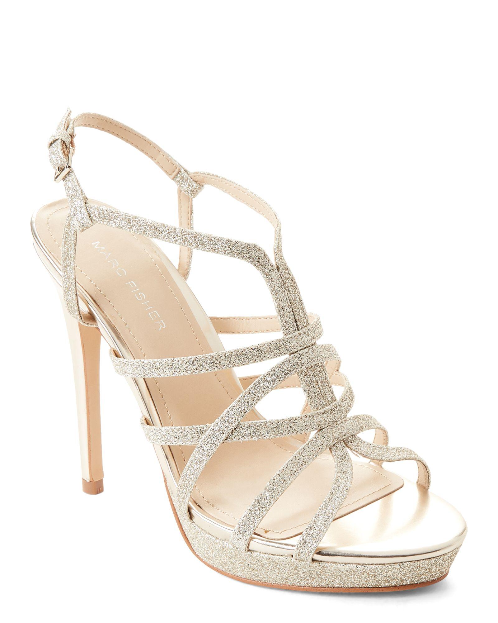 5c15390628 Gold Jaslyn Glitter Strappy Platform Sandals | *Apparel ...