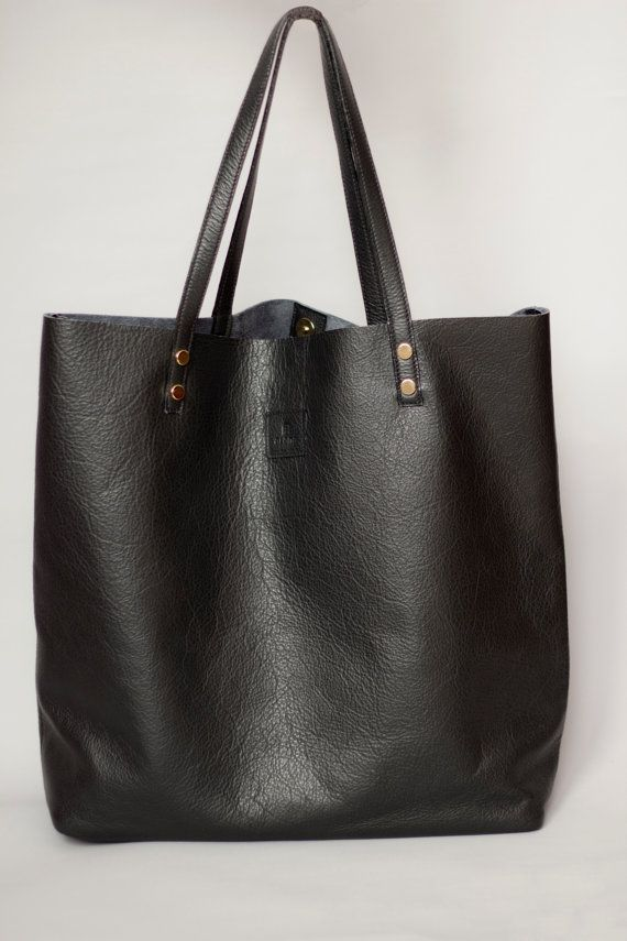 schwarze tasche tote ledertasche schwarz von alanahandbags auf etsy h bsche sachen pinterest. Black Bedroom Furniture Sets. Home Design Ideas