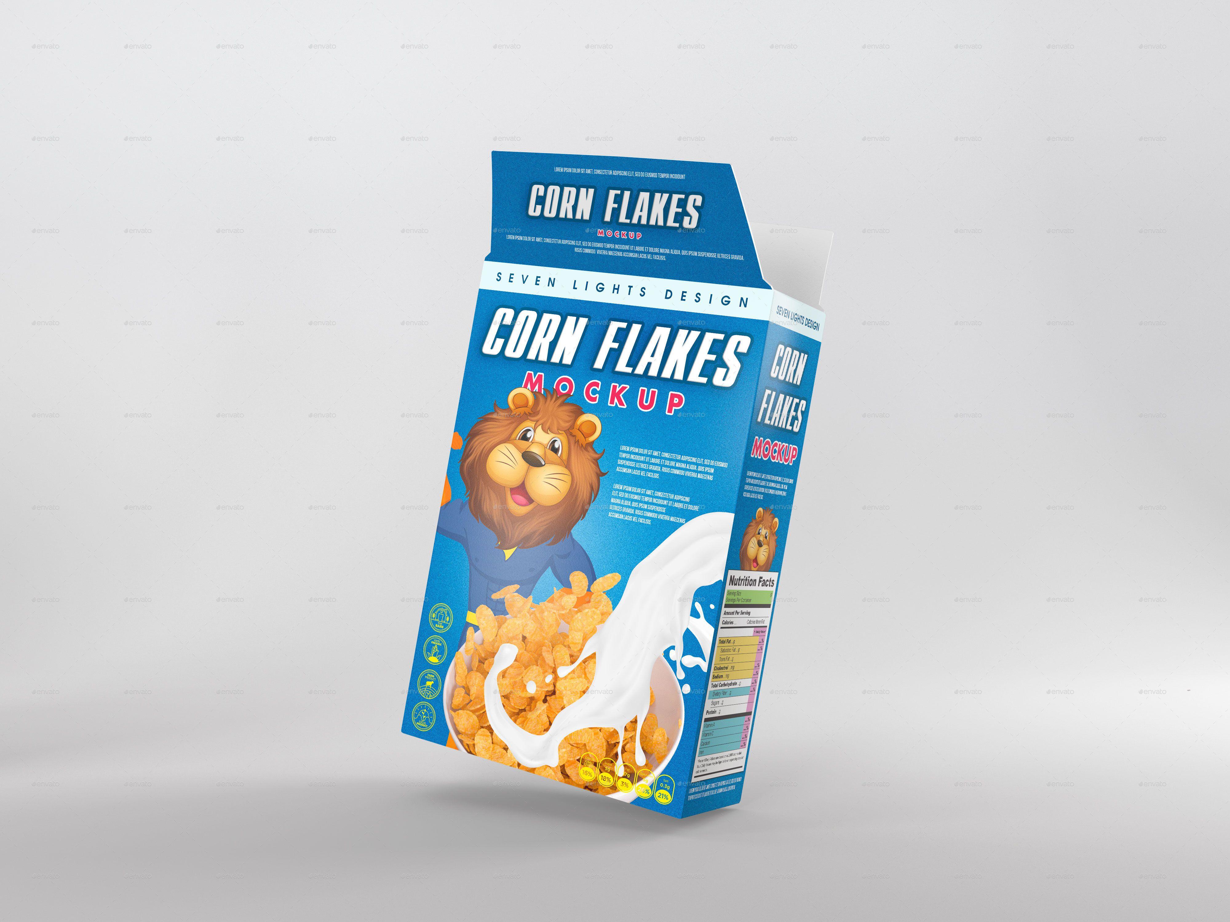 Cereal Package Mockup Cereal Packaging Packaging Template Packaging