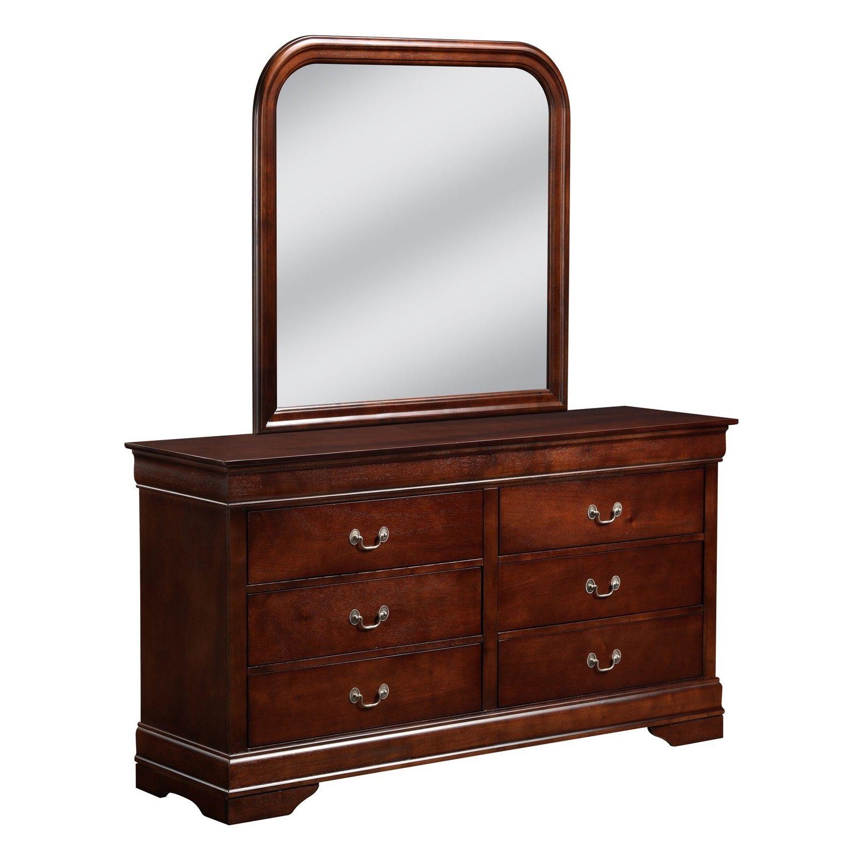 Lyke Home Louis Philip Cherry Dresser