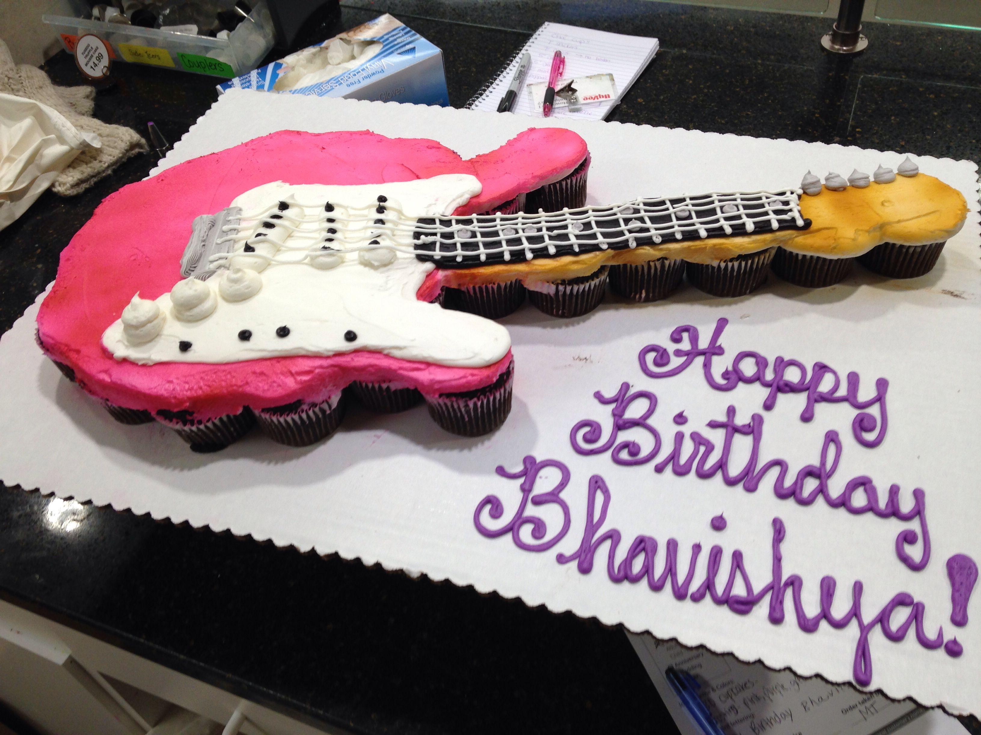 Cupcake Pull Apart Electric Guitar Pink Electricguitar Cupcakes