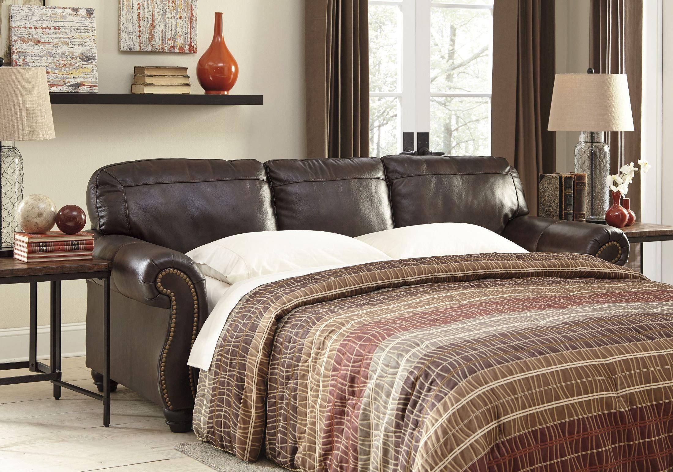 Best Bristan Walnut Queen Sofa Sleeper Leather Sleeper Sofa 400 x 300