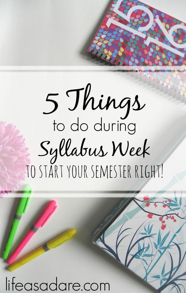 5 Things to Do During Syllabus Week
