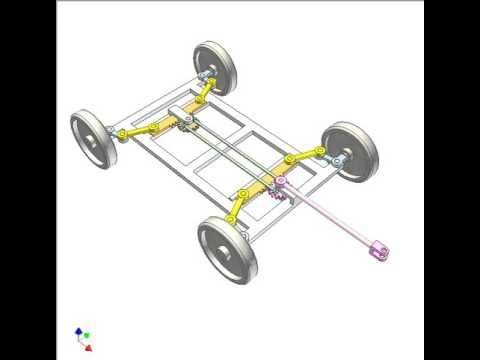 Mechanism For Steering A 4 Wheel Trailer With Small Turning Radius 4