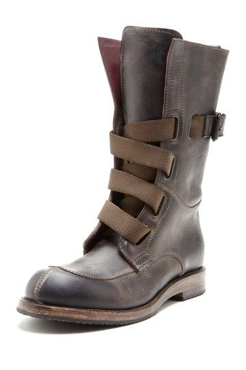 6568fef9e9f93 Leather Work Boot with Canvas Straps / i.am | Style Love: Mens ...