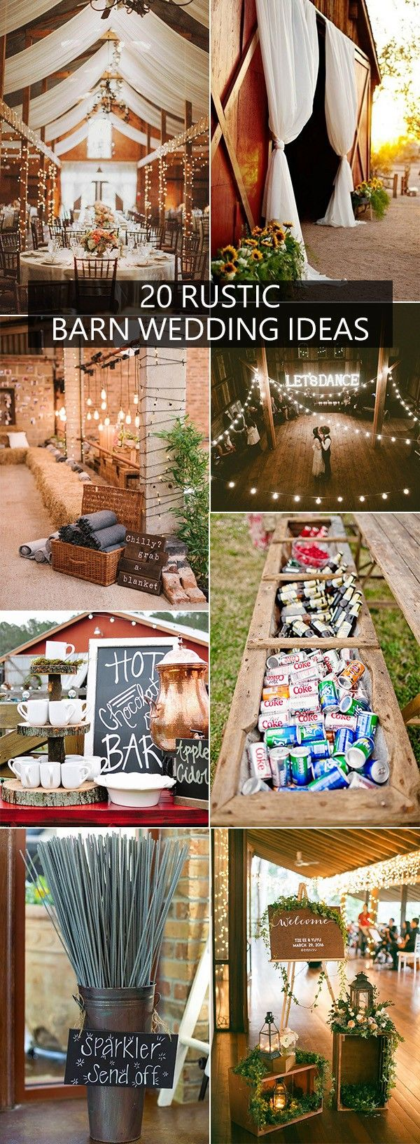 Wedding decorations trees with lights october 2018  Gorgeous Ideas for a Rustic Barn Wedding  Party ideas