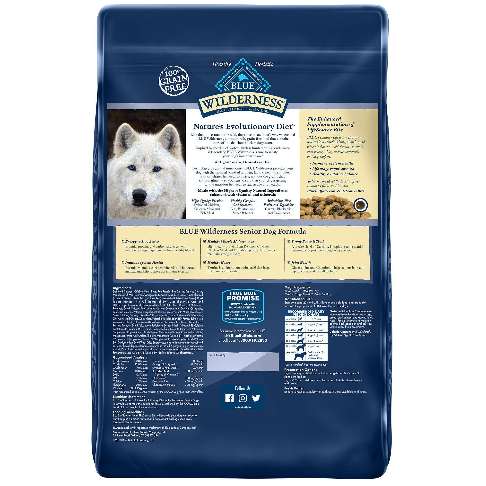 Blue Buffalo Blue Wilderness Chicken Senior Dry Dog Food ...