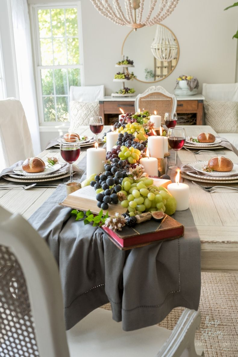 20 Fall Dining Room And Tablescape Ideas In 2020 Thanksgiving Table Centerpieces Fall Dining Table Decor Fall Dining Table