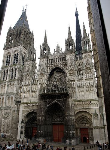Cathedral Notre-Dame de Rouen (France).  The associated page has more photos of French cathedrals.