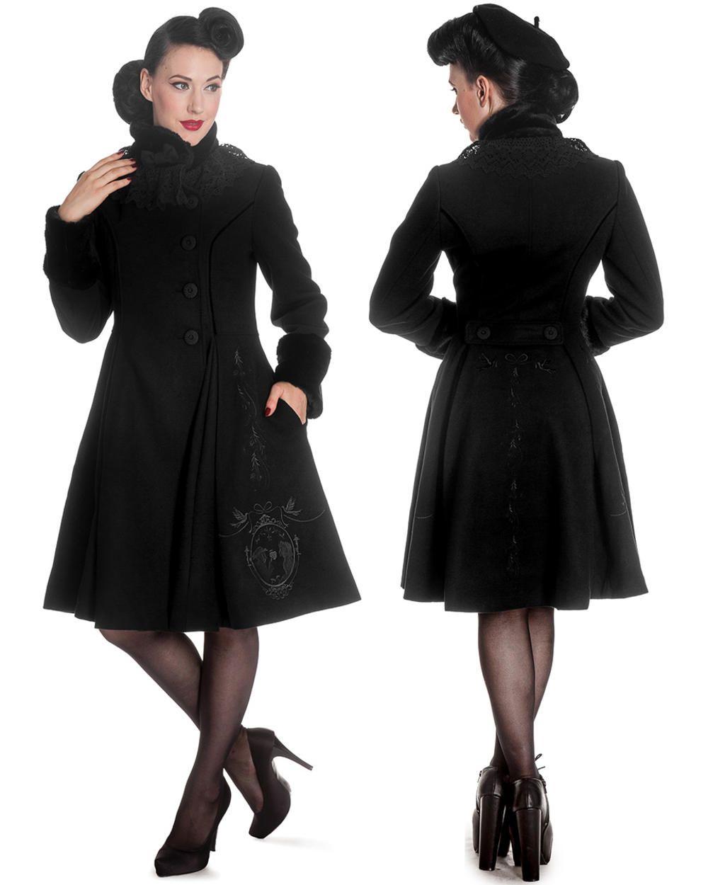 Hell Bunny Cherilyn Dress Black Vintage Fashion