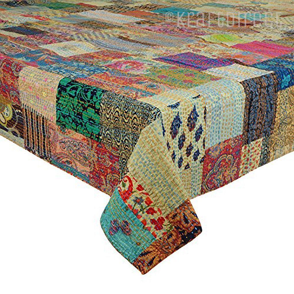 Vintage Patchwork Kantha Quilt - King Size