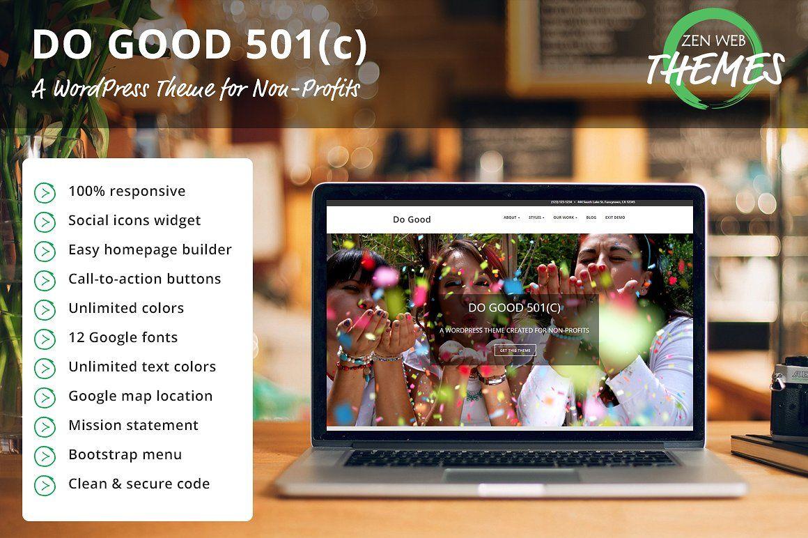 078adf96ac2bb Do Good 501(c) WordPress Theme #paragraph#text#headings#Google ...