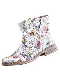 92baed1b48e69b Enkellaarsje  Arkebek  summer boots white floral print http   www.vamos