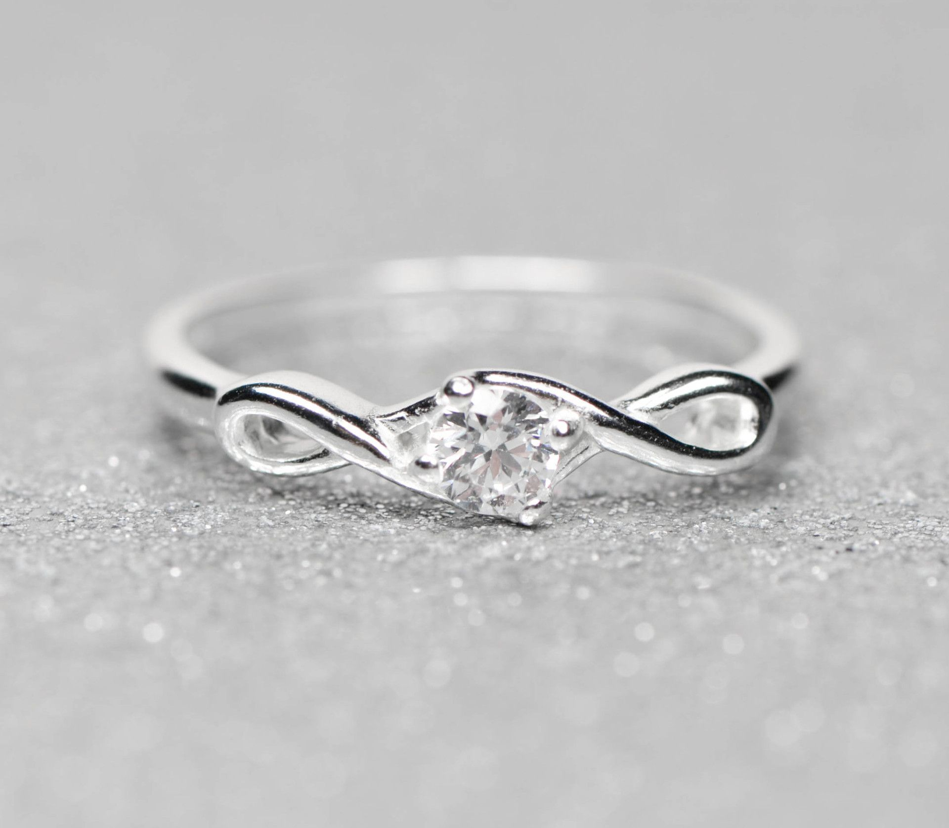Sterling Silver Infinity Cz Promise Ring 6 Sparkle Jade 2: Jade Cross Wedding Bands At Websimilar.org